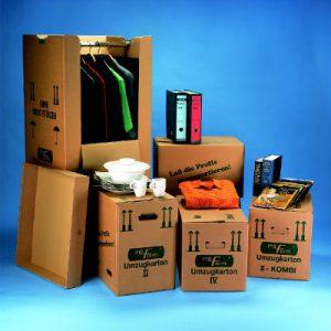 Verpackungsmaterial für Möbellagerung: Standardkartons